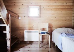 Majakkamestarin talon piha-aitan huoneiston alakertaa